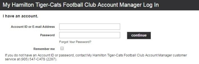 account manager log in