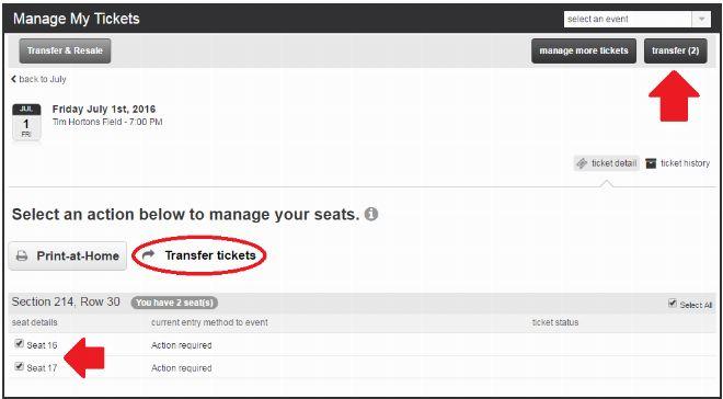 transfer tickets