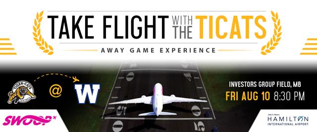 Ticats Fan Trip to Winnipeg Website banner