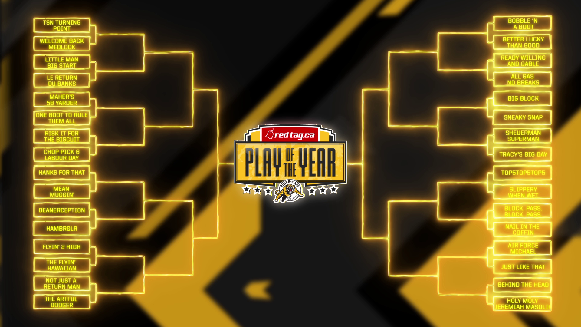 RedTag ca Play of the Year Bracket – Hamilton Tiger-Cats