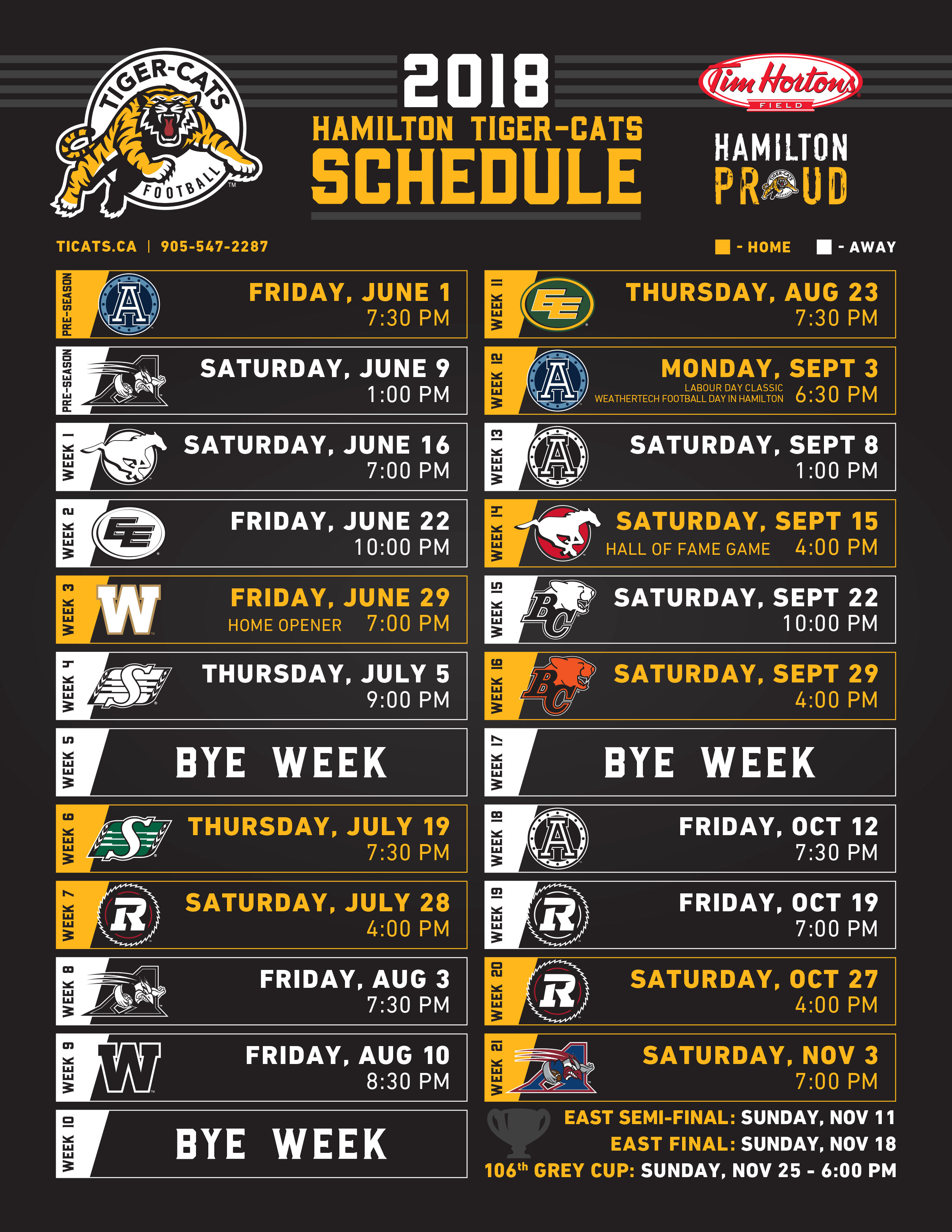 picture regarding Tigers Printable Schedule called The 5th Quarter International Information